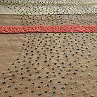 Textile designed by Kenyan-born artist Kirsten Hecktermann