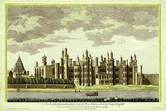 Richmond Palace from SW, 1765 engraving by James Basire, 'based on an earlier drawing'. Essentially as built by Henry VII in it was a favourite of Elizabeth I. She died there in elizabeth had been imprisoned here during the reign of her sister Mary I. Richmond Palace, Richmond London, Richmond England, West London, Tudor History, British History, Uk History, Asian History, History Facts