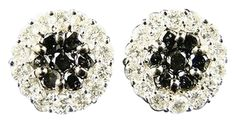 14k Ladies White Gold Blackwhite Flower Diamond Stud Earrings 2.0 Ct. Get the lowest price on 14k Ladies White Gold Blackwhite Flower Diamond Stud Earrings 2.0 Ct and other fabulous designer clothing and accessories! Shop Tradesy now