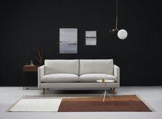 Kuusilinnan oman malliston uutuus, ajaton ja linjakas Tyyni-sohva Sofa, Couch, Luxor, Home Living Room, Furniture, Home Decor, Settee, Settee, Living Room