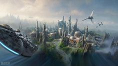 StarWars themed lands announced for Disneyland park & Disney's Hollywood Studios. #D23Expo