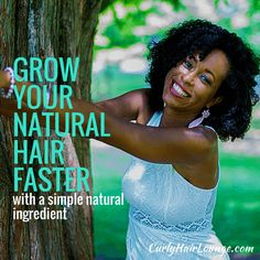Are you frequently looking for a way to Grow Your Natural Hair Faster? Don't worry you're not the only one. People can go to extreme ways to have their transitioning or natural hair achive the hair length they desire. But did you know there is a simple natural ingredient you can use to do just that? Pin and click to read or pin and save to read later.