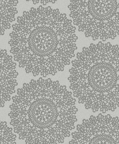 Mandala Silver wallpaper by Albany