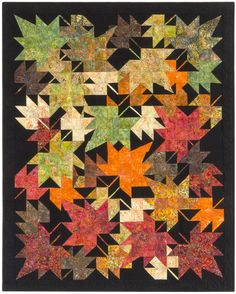 New Leaves designed by Innovations. Features #ArtisanBatiks Seasons by Lunn Studios, shipping to stores October 2015.