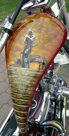 Epic Firetruck's Motor'sicle Paint ~