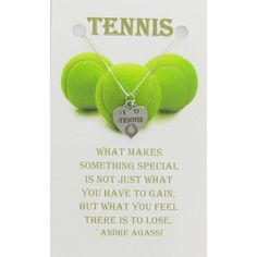 I LOVE TENNIS Sterling Silver Necklace on by Classy925 on Etsy, $22.00