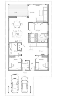 Architecture Design Of Small House small house plan, two bedrooms, suitable to narrow lot, affordable