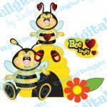 Beatrice and Barnaby Bee paper piecing set