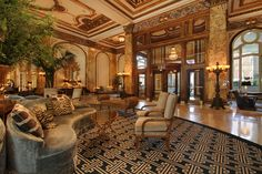 This is the lobby of the world famous Fairmont Hotel. San Francisco