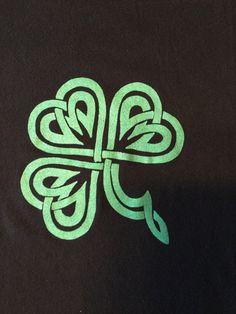 Celtic knot shamrock shirt st Patrick's day by Campchaoscrafts on Etsy