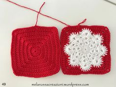Quick Crochet Patterns, Crochet Potholder Patterns, Crochet Snowflake Pattern, Crotchet Patterns, Christmas Crochet Patterns, Crochet Dishcloths, Crochet Snowflakes, Sunburst Granny Square, Granny Squares