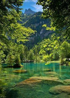Blue lake skanderskeg Switzerland