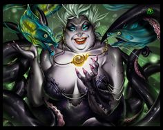 "Ursula by Jgass.deviantart.com on @deviantART - From ""The Little Mermaid"""