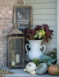 fall home decor Get a peek into my home decorated for fall! Get some inspiration and ideas for inexpensive fall decor. Rustic Fall Decor, Fall Home Decor, Autumn Home, Diy Home Decor, Blue Fall Decor, Diy Autumn, Thanksgiving Decorations, Seasonal Decor, Holiday Decor