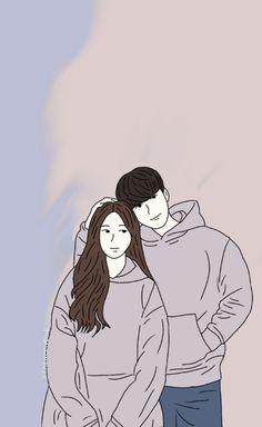 Cute Couple Drawings, Cute Couple Cartoon, Cute Couple Art, Cute Love Cartoons, Cute Drawings, Cute Couple Wallpaper, Love Wallpaper, Rennaissance Art, Complex Art