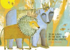 185 To Be Loved CARD 5x7 Front and back by PamelaZagarenski