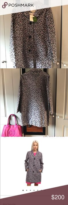 Kate Spade Cyber Cheetah Feti Coat Brand new with tags. I'm wearing a size small in the picture but I'm selling a medium (6-8). kate spade Jackets & Coats
