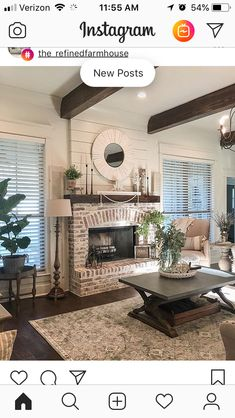 81 Awesome Farmhouse Fireplace Design Ideas To Beautify Your Living Room – Farmhouse Room Home Fireplace, Fireplace Design, Fireplace In Dining Room, Brick Fireplace Makeover, Brick Fireplace Remodel, Fireplace Ideas, Brick Fireplace Decor, White Wash Brick Fireplace, Rustic Fireplaces