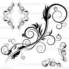 Abstract Swirl Tattoo | custom logos, vector art @ vectorcorner.com: April 2011
