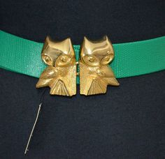 1970s NOS Vintage Mimi Di N Owl Belt and Buckle by FlanneryCrane, $56.00