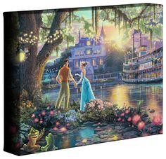 "Princess and the Frog, The – 8"" x 10"" Gallery Wrapped Canvas"
