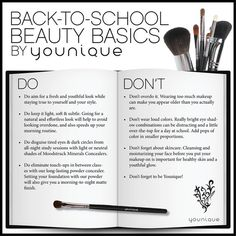 Get Back to School Beauty Ready with these easy Do's and Don't! Need some new makeup for fall? Click the image to shop!