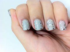 Silver & Grey - OPI Skull & Glossbones + Milani Jewel FX