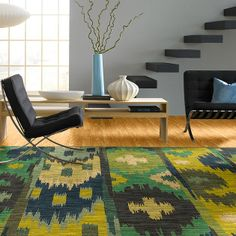 "Area Rug in style ""Mar Vista"" color Jade - gorgeous Ikat pattern! - by Shaw Flooors"