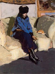 Jean-Édouard Vuillard - Femme au Corsage bleu