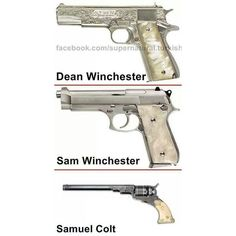 SupernaturaL Supernatural Winchester Brothers 4Ever! ❤ liked on Polyvore featuring supernatural, weapons and accessories