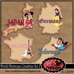 World Showcase Countries Set 2