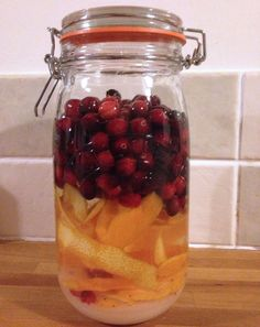 Cranberry & Orange Vodka Preparation