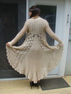 Long Sweater Crochet Pattern pdf 744 by SandysCapeCodOrig on Etsy