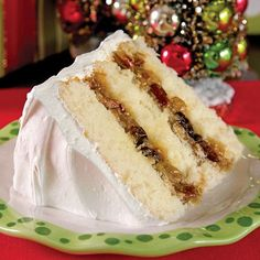 This layered white cake was first introducedin a cookbook by Mrs. Emma Rylander Lane of Clayton, Alabama, which she self-published in 1898. Lane cake has long been considered a labor-of-love cake, and it was even written about in Harper Lee's novel To Kill a Mockingbird. In the book, when Aunt Alexandra came to live with