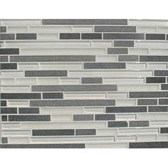 gray and white glass tile.