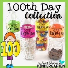 Students can use plastic bottles to showcase their 100th Day collections!