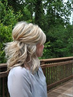 Pinned Half Up Hair - Renewed Style - Brooke for wedding? @Brooke Williams Williams Williams Parsons