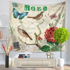 Tapestry Painting Of Flowers And Birds In Traditional Chinese Style Hanging Sandy Beach Piece Of Cloth Sit Carpet GT1022