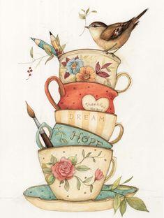 Image result for decoupage de cup cakes grandes