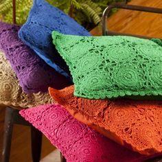 cores linha croche almofada - Pesquisa Google