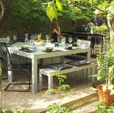 IKEA FALSTER outdoor dining table and chairs