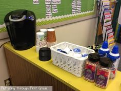 Class Keurig party! Our class went absolutely cuh-razy with the idea they could push the button on the Keurig to make their own hot cocoa. Who knew?!? Great class reward!