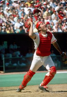Johnny Bench, Cincinnati Reds.  Best.  Catcher.  Ever.  And not too shabby with a bat either!