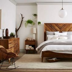 Love the headboard; total inspo for bed frame