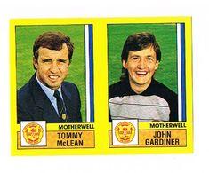 Tommy McLean (Manager) / John Gardiner of Motherwell - Football 87 - Panini - English & Scottish Leagues Football Season, Seasons, Baseball Cards, Trading Cards, Soccer, Seasons Of The Year