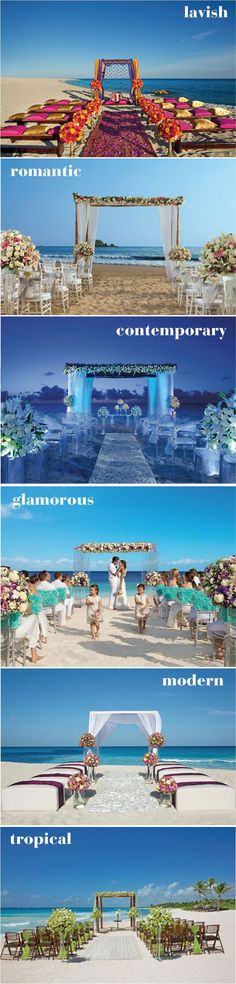 Ideas para bodas en playa | bodatotal.com | beach weddings, beach wedding ideas, bodas en México