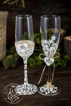 12 best rustic wedding glasses images rustic wedding glasses rh pinterest com
