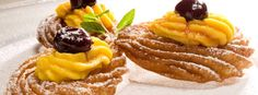 Zeppole di San Giuseppe - Saint Joseph's Fritters The first zeppole di San Giuseppe, who has been put on paper, however, dates back to 1837, by the famous gastronome Neapolitan Ippolito Cavalcanti, Duke of Buonvicino.