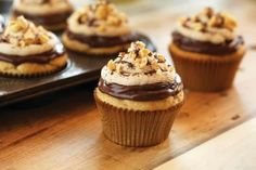 Chocolate Hazelnut and Peanut Butter Cupcakes
