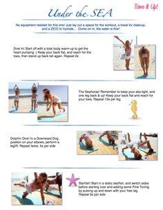 Tone It Up! Blog - ♡ Beach Week Schedule!